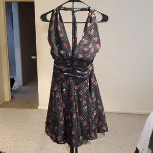 Pin up halter dress